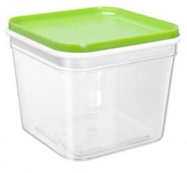 Емкость для сыпучих продуктов Фикс 0,6л прозр.-оливков. 169058 (Алеана)