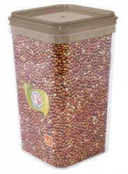 Емкость для сыпучих продуктов Фикс 1,3л прозр.-какао 169059 (Алеана)