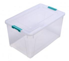 Контейнер Smart Box 7,9 л. прозр-бирюз 123083 (Алеана)