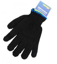 Перчатки Praktische Home, п/шерсть двойной вязки серые/черные б/ПВХ П7383ф