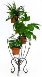 Кованая Подставка Зонт на 4 цветка 95-053