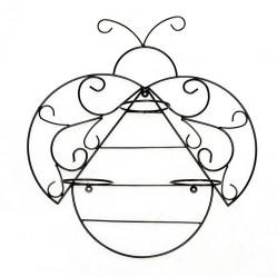 Кованая Подставка настенная Пчела на 3 цветка 15-825