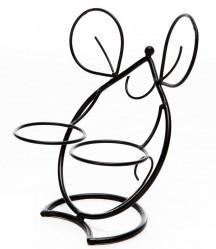 Кованая Подставка Мышь на 2 цветка 14-725-В