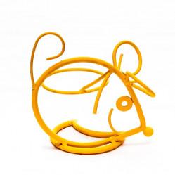 Кованая Подставка Мышь на 1 цветок Оранжевая14-727-Or