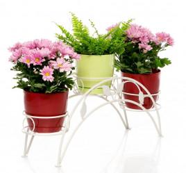 Кованая Подставка на 3 цветка 14-903