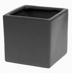 Кашпо лофт 0,95л(антрацит)  Сады Аурики