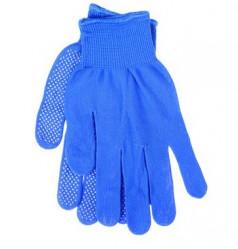Перчатки Praktische Home, нейлон с ПВХ Микроточка синие G-104-3