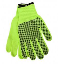 Перчатки Praktische Home, акриловые, утепленные Микроточка зеленые G-141-2