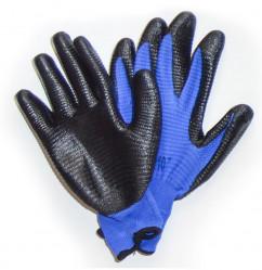 Перчатки Praktische Home, нейлон с латексным обливом синие-черные G-116-3