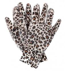 Перчатки Praktische Home, нейлон нитрил облив леопард G-111-9