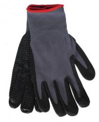 Перчатки Praktische Home, нейлон с лайкрой облив нетриловый Микроточка G-143