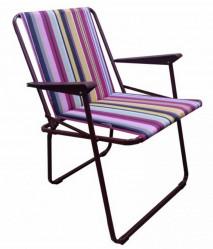 Кресло складное Фольварк мягкое (бордо,разноцв.)  арт.c565/67