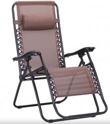 Кресло-шезлонг Фиеста (коричн.,черный)  арт.CK-175-MT003