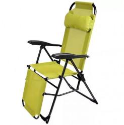 Кресло-шезлонг Ника К3 (каркас черный., ткань лимон)  арт.К3/Л