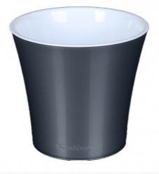 Кашпо АРТЕ 0,6л. Металлик-Белый (Santino)