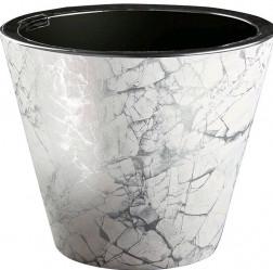 Кашпо Декор 3л мрамор белый (КШ-9050)